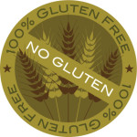 Wheat Stalk 100% Gluten Free Label Vector Illustration